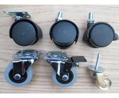 Ironmongery World® Rueda giratoria Ruedas silla de armario muebles mesa auxiliar con ruedas