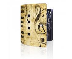 banjado - acero inoxidable Armario para llaves de Burg-Wächter con diseño de Music