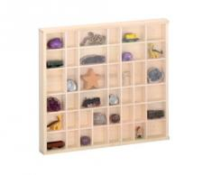 Zeller 12112 - Vitrina de coleccionista con cristal, madera de pino (45 x 4,5 x 40 cm), color natural