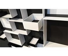 Estantería de pared con diseño de estantería de madera con forma de cubo estante CD-estante Pappap