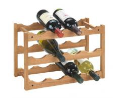 Wenko 18615100 Norway - Botellero para 12 botellas de madera de nogal (42 x 28 x 21 cm)