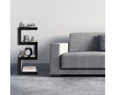 Relaxdays Estantería de Suelo con Diseño Retro, Madera MDF, Marrón, 30x30x74 cm