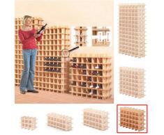 Sistema Botellero modular PRIMAVINO, máx. 24 botellas, pino natural, apilable / ampliable - alt. 54 x anch. 75 x pr. 22 cm