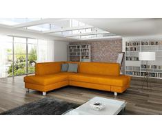BMF Nuevo Stock - 2015 Model quot;loona - Azul Almohadas - Gris sofá en ángulo Cama - Izquierda Frente - Piel sintética Tela - Buen Precio.