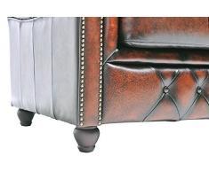 Chesterfield Showroom - Chesterfield Original Sofá - 2+3 plazas - Este sofa esta hecho completamente a mano - Marrón envejecido
