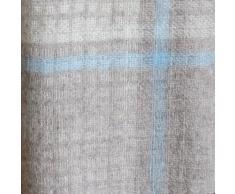 Suave y Ligero Manta de Sofá/ Cama MOSAIC - 100% Lana Merino - 140 x 200cm, Azul