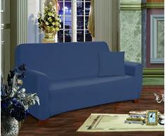 Elegante Comfort Muebles Jersey Stretch Slipcover, Microfibra, azul marino, Sofa