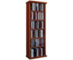 VCM 25207 Vetro - Estantería para CD y DVD (hasta 150 CD), madera de cerezo