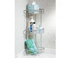 mDesign Balda para baño y ducha – Estante esquinero auxiliar para gel 59df960ca838