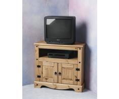 Mueble de esquina para televisor Strictlybedsandbunks Corona encerado, entrega en paquete plano