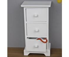 elbmöbel.de - Cómoda de madera (tamaño mediano, diseño vintage), color blanco