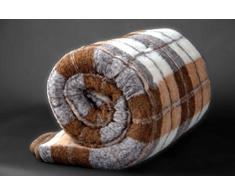KING Manta 200 x 200 cm de 100% pura lana Merina manta 200 x 200cm Cálido y Natural Certificada por Woolmark. Muy suave y confortable.