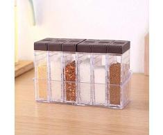 Kentop - Juego de especieros de plástico con estantes 16.5×10.5×6.5cm Blanco