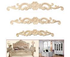 Madera tallada esquina Onlay diseño de puerta de estilo europeo muebles armario decoración, madera, ver imagen, 16*3cm