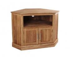 Muebles de madera maciza de roble mueble de Tv de esquina