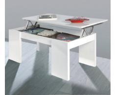 Mesa de centro elevable , acabado blanco brillo due-home
