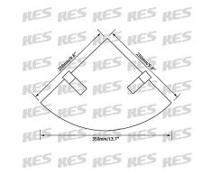 KES Rinconera Para Baño Lavabo Vidrio Templado Estante Montaje en Pared Cepillado, BGS3101-2