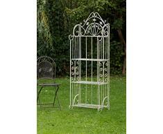 Estantería Nostagie 170cm hierro creamwhite estantería jardín de flores