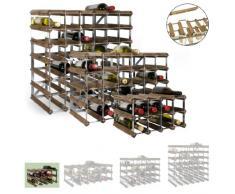 Sistema Botellero modular TREND, máx. 12 botellas, roble oscuro, ampliable / apilable - alt. 22,8 x anch. 42 x pr. 30 cm