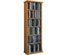 VCM 25203 Vetro - Estantería para CD y DVD (hasta 150 CD, 88 x 31 x 18 cm), madera de haya