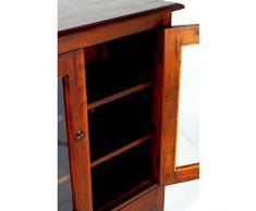 Vitrina de dos puertas cristol en madera de Mahogany color teka