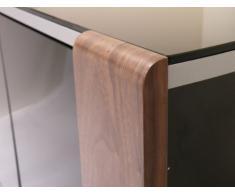 MDA Designs Sirius 850 - Mueble de Esquina para TV, Color Nogal y Negro