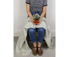Panal – – pura lana virgen rodilla alfombra manta – gris suave – fabricado en Reino Unido por Tweedmill