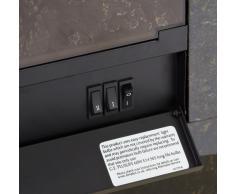 EWT 202529 - Chimenea eléctrica, color crema