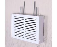 YYQXR Colgante De Pared Decoración WiFi Router Estante Televisor Set-Top Box Almacenamiento Grande, Rack De Almacenamiento De Teléfono Estante Flotante Doble (Tamaño : 937)