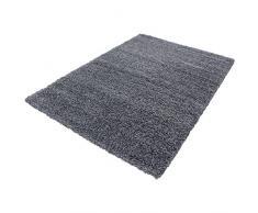Shaggy Alfombra Peludo Alfombra de pelo largo Moquette alfombra de la sala uni gris Größe 240 x 340 cm