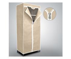 Armario guardarropa de tela mws (beige)