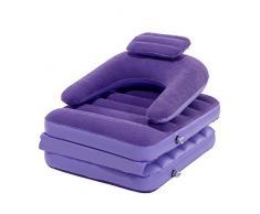 Asvert Sofá Hinchable Práctico y Cómodo Sillón Inflable Resistente para Casa Camping y Acampada (Violeta)