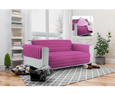 Elegant Funda para sofà, Lila/Fucsia 2 Plazas Maxi, Microfiber