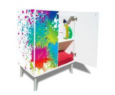 Armario para lavabo con nuevo diseño moderno diseño: con diseño: manchas de color