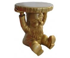 Kartell 883195 Gnome Attila - Taburete de jardín, diseño de gnomo, color dorado