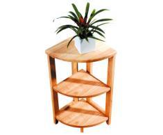 Premier Housewares - Estantería esquinera (madera de caucho, 3 estantes, 66 x 30 x 30 cm)