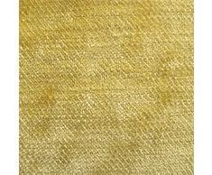 Tabley 'citrus signicase': amarillo de terciopelo de tapicería de sofá amortiguador de Material retardante de llama de tela telas Loome, Tabley 'Citrus Plain' : Yellow, per metre