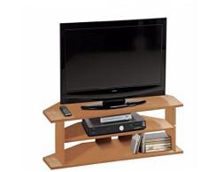 Gran mueble de esquina para TV, efecto de madera de roble