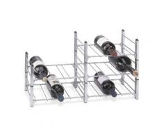 Sistema botellero modular ALDO, capacidad 3 botellas, módulo básico, apilable / ampliable - alt. 11 x anch. 30 x pr. 26 cm
