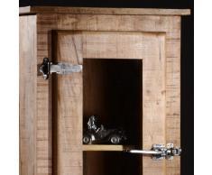 SalesFever vitrina de madera maciza - Tamil Mango 2 Puertas Derecho Bisagra