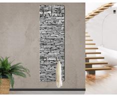 WTD mantiburi - Perchero decorativo para pared (tablero de madera DM, diseño de pared de piedra natural de Arizona)