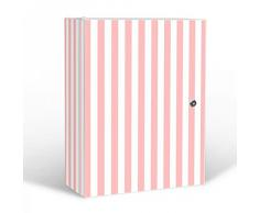 banjado - armario de pared de acero inoxidable de baño 35 x 46 x 15 cm con diseño de rayas de colour rosa