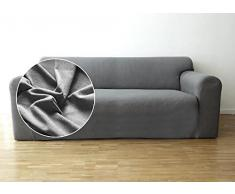 Funda de sofá Bellboni, forro de sofá, funda ajustable bielástica, apta para muchos sofás normales de 2 plazas, gris