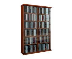 VCM Roma - Torre para CD/DVD, para 300 CDs, color Cerezo, dimensiones 92x60x18 cm