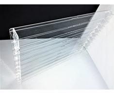 Técnicas Láser TR.4.2L9B/T Vitrina de metacrilato, Transparente, fondo transparente, Montada mide 50x75x5 (altoxanchoxfondo), Set de 14 Piezas