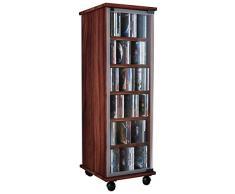 VCM 30032 Valenza - Estantería para 300 CD y DVD, madera de nogal