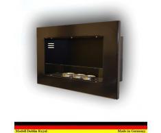 Etanol y Gel Chimenea Modelo Dublin Royal - selección de color (Negro)