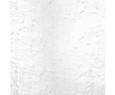 Douceur DIntérieur 1622554 - Visillo Con Anillas ,Cortina 140 X 240 Cm , Paloma , Velo Crash , Blanco