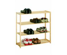 Premier Housewares - Zapatero de madera (4 estantes, 80 x 79 x 26 cm), diseño de celosía