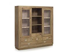 Muebles Vitrina de Madera : Coleccion MERAPI de 150x160x40cms.